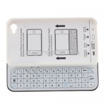 White Bluetooth Sliding Keyboard - Hard Case for iPhone 4