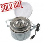 New USB Stainless Steel Lunch Box Dinner Bucket Container