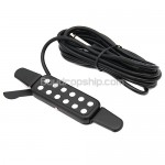 12 Sound Hole Acoustic Guitar Pickup 38-41 inch - Black