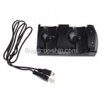 2-in-1 Double Charging Dock for PS3 Move Controller