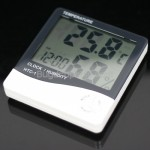 Digital LCD Temperature Humidity Meter Alarm Clock