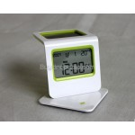 LCD Solar Alarm Clock - Digital Calendar Temperature