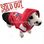 Red&Black Pullover Style Dress Clothes with Hoodie for Dog