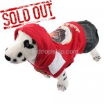 New Pullover Style Dress Clothes for Dog Pet - Red Color
