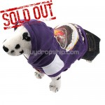 Purple Pullover Style Dress Clothes with Hoodie for Pet Dog