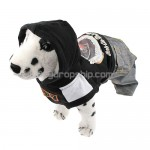 Pullover Style Trousers Clothes with Hoodie for Dog Black