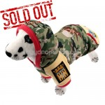 Cotton-padded Camouflage Coat Clothes with Hoodie for Dog