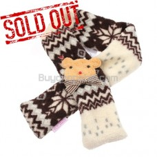 Snow Flake Coffee Color Grille Scarf Dog Puppy Fuzzy Shawl