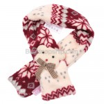 New Snow Flake Red Color Grille Scarf Dog Puppy Fuzzy Shawl