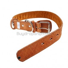 75cm Adjustable Leather Collar Belt for Pet Dog