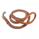 1.0 Meter Dog Leash 8-Strand Leather Ropes