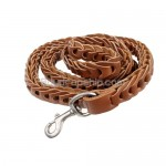 1.2M Cabretta Leather Leash for Pet Dog - Brown