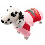Button Closure - Cotton-padded Jacket Clothes for Dog Pink