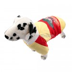 Button Closure - Cotton-padded Jacket Clothes for Dog Yellow