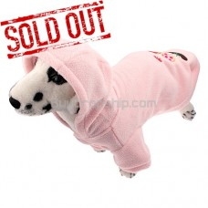 Button Closure Style Coat for Dog Pet - Pink Color