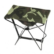 New Woodland Camouflage Military Folding Camp Stool