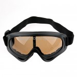 Fashion Sport Ski Glasses Goggles Brown Lens Black Frame