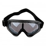 Fashion Sports Ski Glasses Goggles Black Lens Black Frame