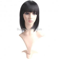Synthetic Capless Short Straight Wigs Full Bangs Hairpieces