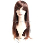 Synthetic Natural Long Straight Wigs Swept Bangs Hairpiece