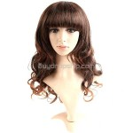 Vibrant Styling Long Synthetic Hair Long Curl Wigs Hairpiece