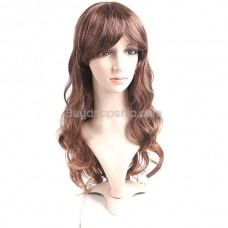 Long Synthetic Capless Natural Wavy Curly Wig Hairpiece