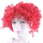 Synthetic Reddish Brown Funky Unisex Short Clown Wigs