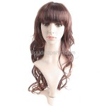 Long Synthetic Hair with Cut Layers Bang Wavy Wigs Hairpiece