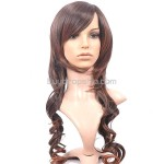 Synthetic Capless Natural Long Wavy Curly Wigs Hairpieces