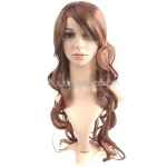 Synthetic Natural Long Wavy Curly Wigs Long Bangs Hairpiece