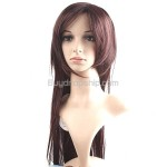 Synthetic BOB Styling Straight Long Wigs Swept Bangs Hairpiece