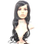 Synthetic Bob Styling Long Wavy Curly Wigs Swept Bangs Hairpiece