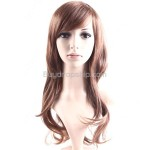 Stylish Women Wigs Long Curls Synthetic Wavy Brown Hair