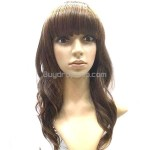 Vibrant Stylish Hair Long Perm Curl Wigs Hairpieces Brown