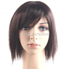 Synthetic Hair Shoulder-length Short Wig - Fringe Hairpiece