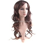 Vibrant Stylish Synthetic Hair Long Perm Curl Wigs Hairpiece