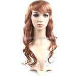 Vibrant Stylish Synthetic Hair Long Curl Perm Wigs Hairpiece