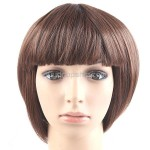 Smart Short Synthetic Hair Flat Bang Straight Wigs Hairpiece