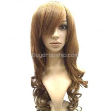 Sweet Doll Style with Thick Tilted Bang Wigs Hairpieces