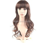 Synthetic Natural Long Curly Wavy Wigs Full Bangs Hairpieces