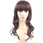 Synthetic Natural Long Wavy Curly Wigs - Crimped Hairpieces