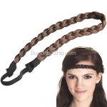 Synthetic Fiber Wigs Braid Hair Hoop False Plait Hairpieces