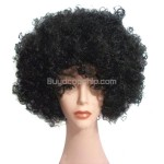 Synthetic Black Funky Unisex Short Costume Wigs Hairpieces