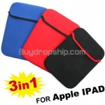 3 x Soft Protective Cover Bag Case for Apple iPad Netbook