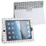 Synthetic Leather Case Cover - Frame Stand Plate Bracket for iPad 2