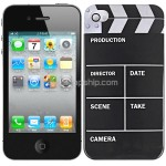Movie Action Clapper Board Design Polished Plastic Case for iPhone 4