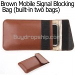 Portable Mobile Signal Blocking Leather Case Pouch for iphone