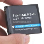 Li-ion Battery NB-8L for Canon PowerShot A3000 IS A3100 IS Camera