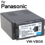 Battery VW-VBG6 for Panasonic AG-H HDC-DX HDC Series Digital Camera
