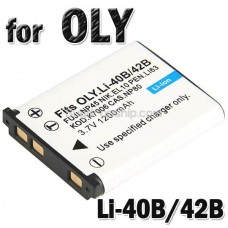Battery Li-40B/42B for Olympus FE-5500 IR300 Digital Camera